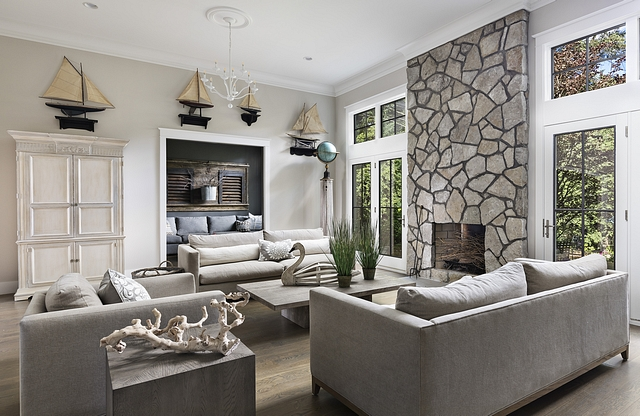 Flagstone fireplace We used the same exterior stone for the fireplace to keep the look simple Flagstone fireplace Flagstone fireplace Flagstone fireplace #Flagstonefireplace