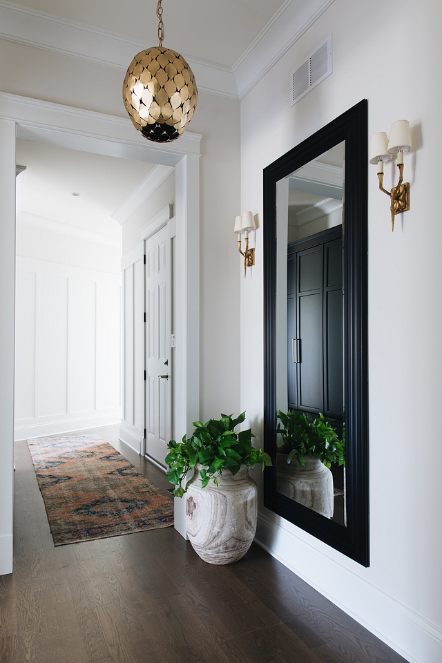 Foyer The full length mirror and gold fixtures really make this foyer area sophisticated and chic Foyer Entry Mirror Foyer Entry Mirror #Foyer #Entry #Mirror