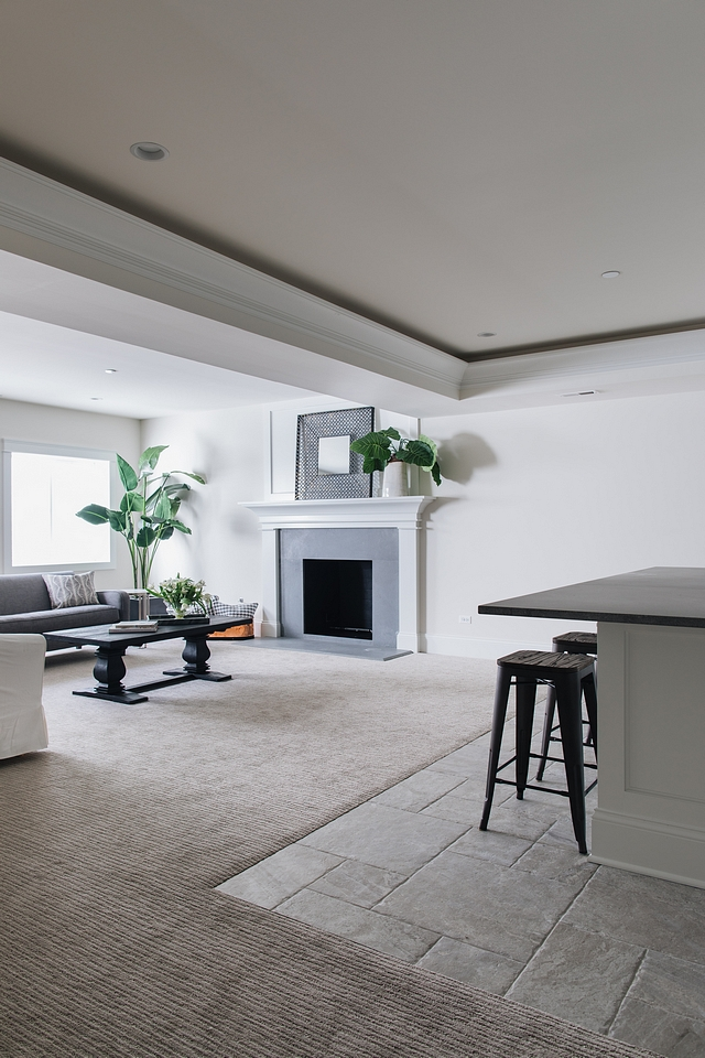 Benjamin Moore Classic Gray Recommended Basement Paint Color #BenjaminMooreClassicGray #Basement #BasementPaintColor