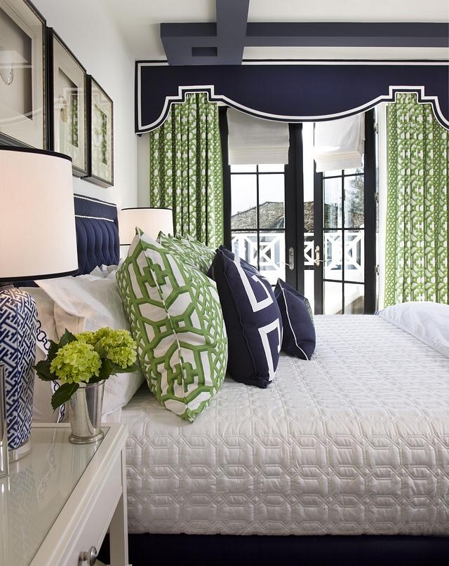 Euro Pillows Custom with Schumacher Jade Trellis fabric