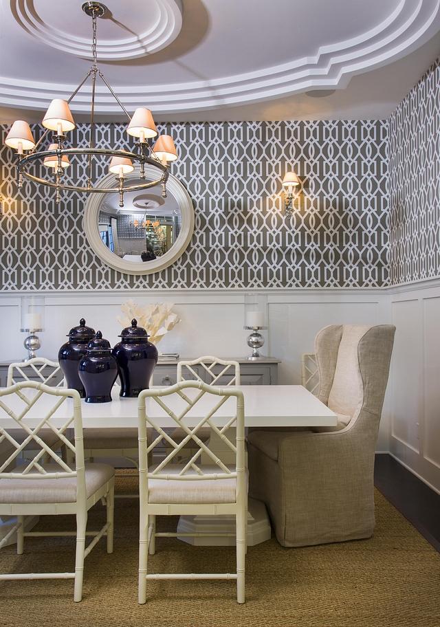 Dining Room Wallpaper Trellis Wallpaper Trellis in Grey and White wallpaper Dining Room Wallpaper Trellis Wallpaper Trellis in Grey and White #DiningRoom #Wallpaper #TrellisWallpaper #diningroomwallpaper