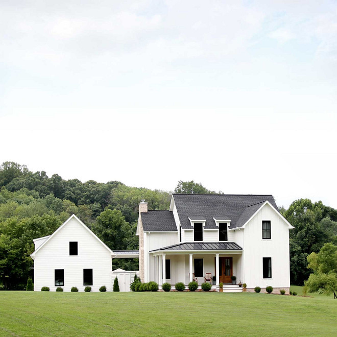 Top 5 White Modern Farmhouse Exteriors Home Bunch Interior