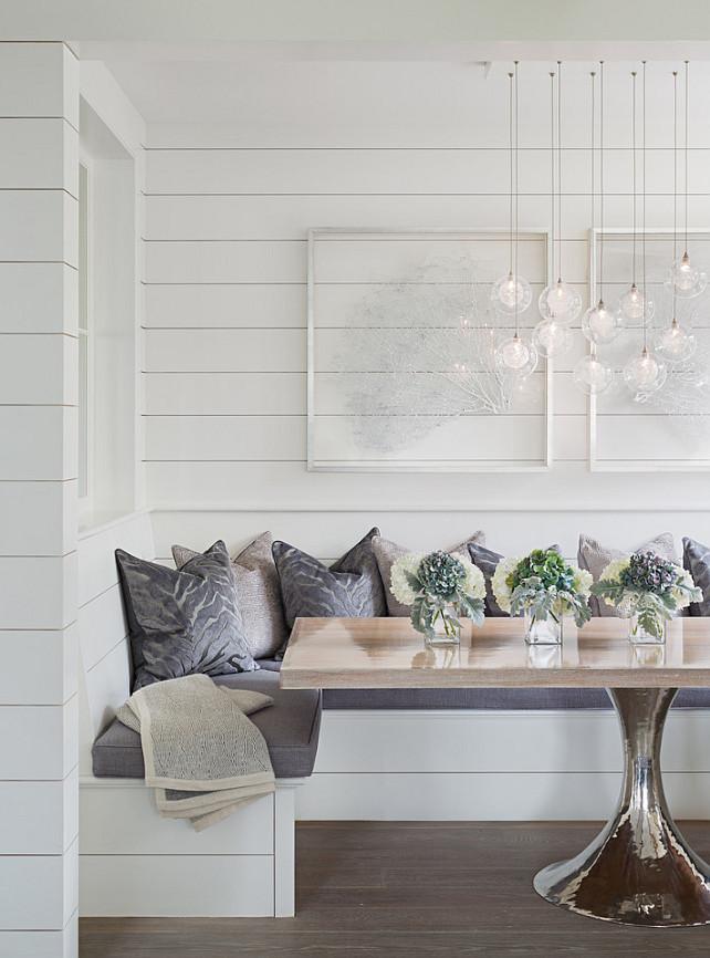 Breakfast Nook Table. This rectangular tulip table has a solid white oak top. #Table #BreakfastNook #TulipTable #WhiteOakTable