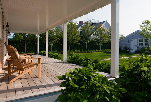 Deck. Back porch deck ideas. The decking material is Garapa Gold. #Porch #BackPatio #Deck #DeckMaterial. Jonathan Raith Inc.