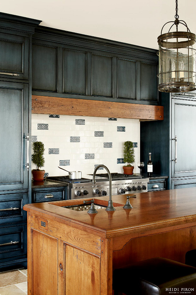 Navy Kitchen Cabinet Paint Color Home Bunch Interior