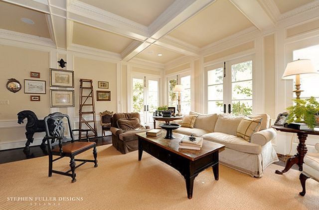 Favorite white from Sherwin-Williams: Dover White painted trim