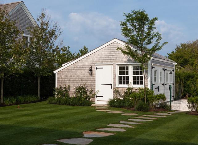 Shed. Garden Shed Ideas. Shingle Exterior Shed. #Shed #Garden  Jonathan Raith Inc.