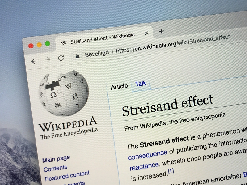 Get Free Publicity Using The Streisand Effect – But be Careful