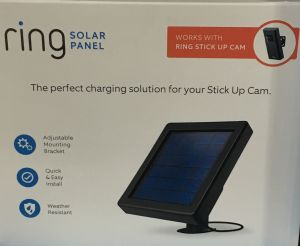 Ring Solar Panel Plus Sun Equals Power Almost Anywhere