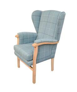 Wheaten padded orthopedic armchair side view 2