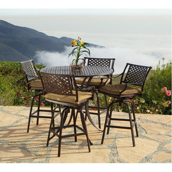 charleston 5pc patio bar table set by bridgeton moore 10632271