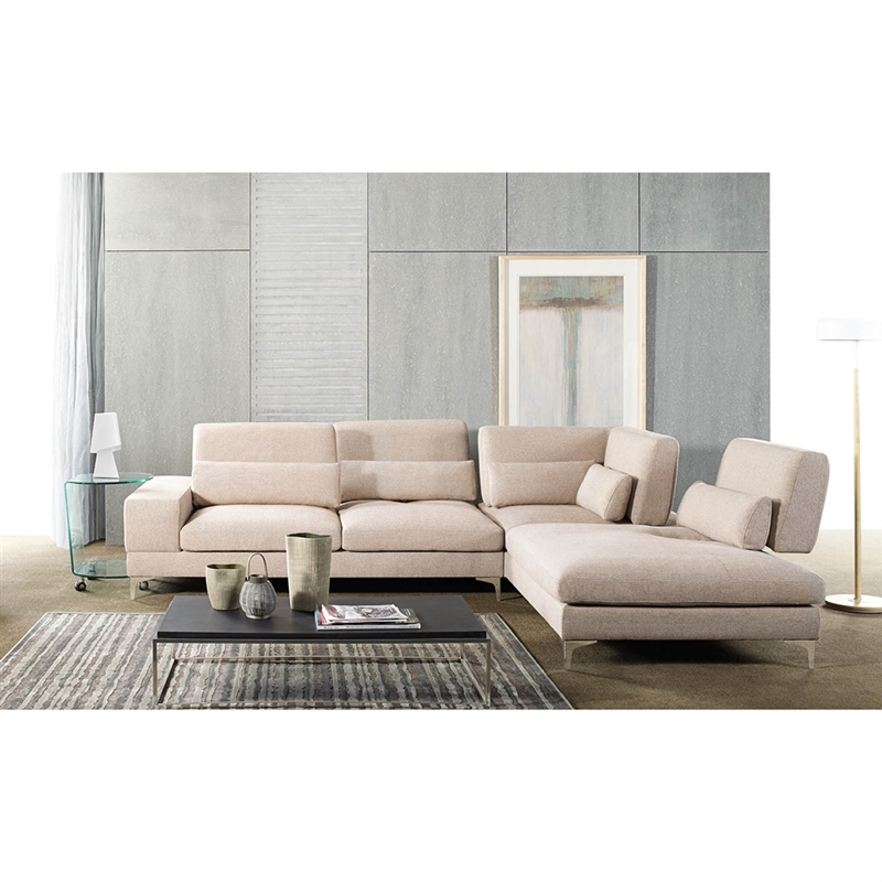sonia modern beige fabric sectional sofa with right facing chaise by baxton studio bax td4909 rfc