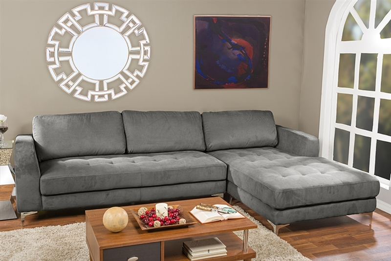 agnew contemporary grey microfiber right facing sectional sofa by baxton studio bax u9320s