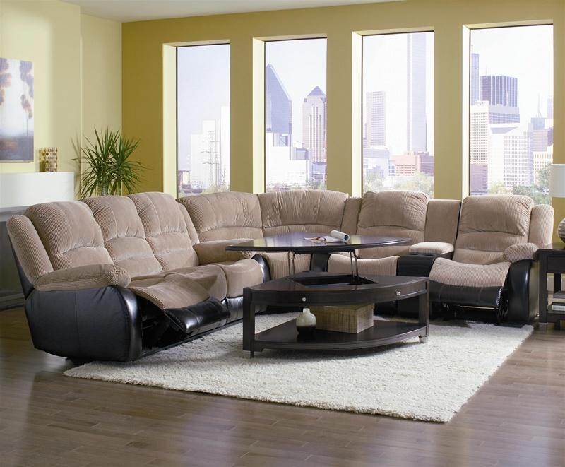 johanna tan corduroy 3 piece reclining sectional by coaster 600362