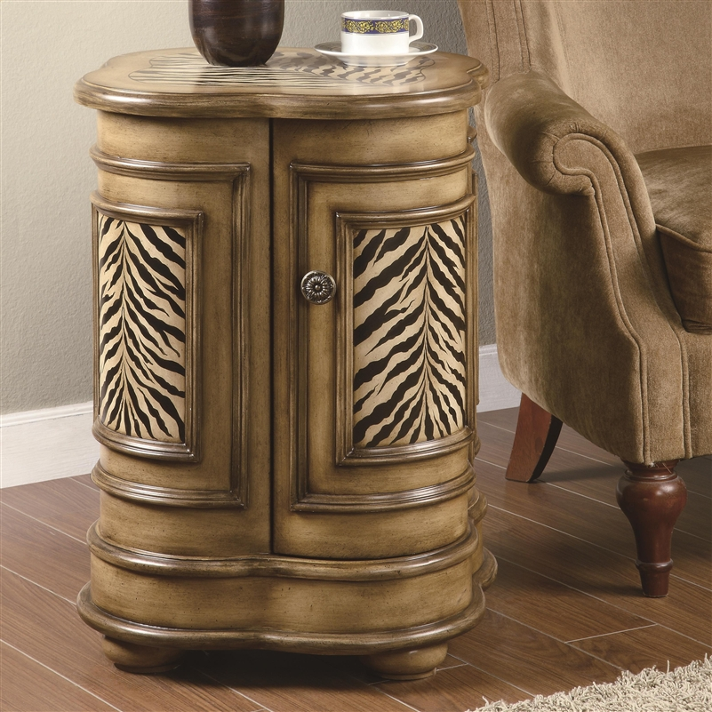 Zebra Print Accent Cabinet By Coaster 900365