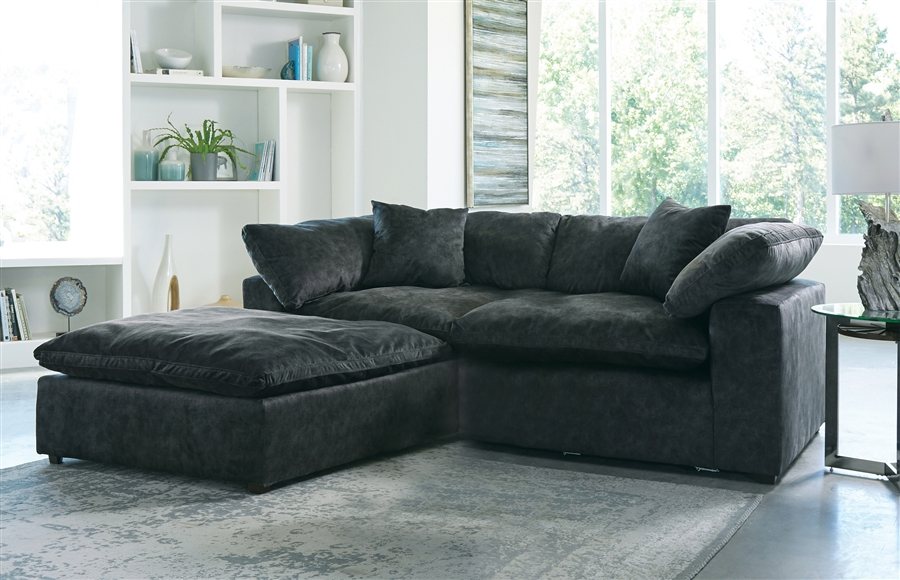 plush 2 piece sectional sofa in smoke fabric by jackson furniture 4446 2 s
