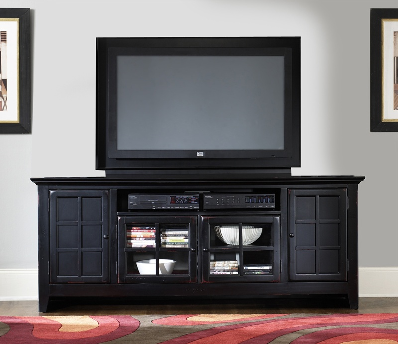 New Generation 75 Inch Tv Stand In Rubbed Black Finish By Liberty Furniture 540 Tv00