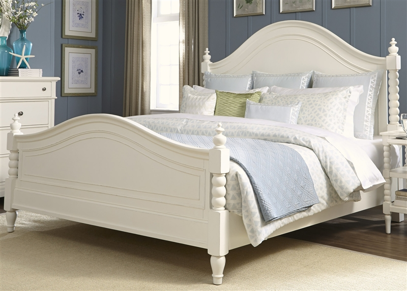 harbor view poster bed in white linen finish by liberty furniture 631 p bed