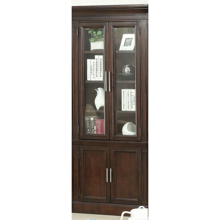 Stanford 32 Inch Glass Door Cabinet In Light Vintage
