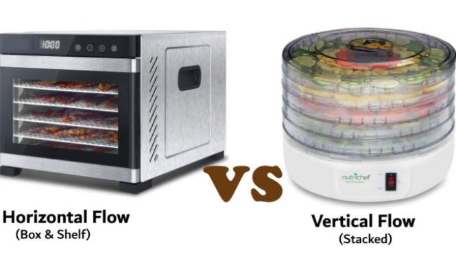 horizontal flow and verticle flow dehydrator