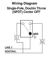 Leviton SinglePole AC Quiet Toggle Switch, Momentary