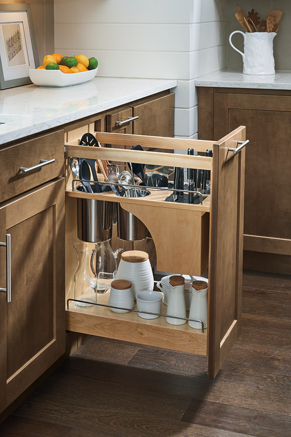 Pantry Pullout Cabinet With Knife Block Homecrest