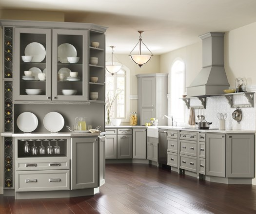 Brenner Gray Kitchen Cabinets In Maple Willow