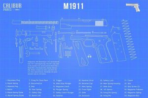 Calibur Prints  Blueprints of famous guns for your home