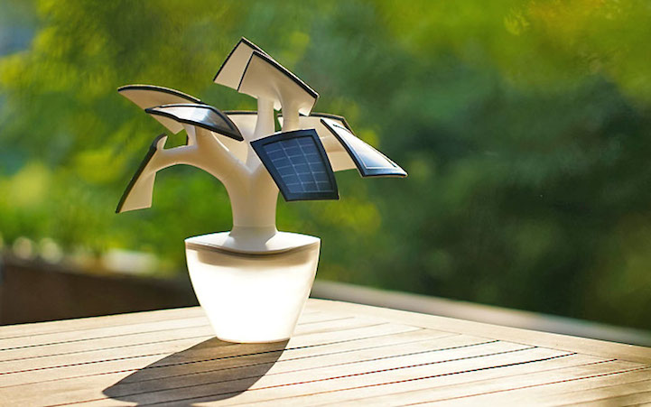 Electree Is Bonsai Tree Shaped Solar Powered Charger For Electronic Devices HomeCrux