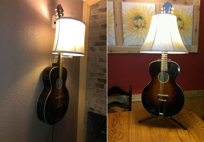 16 Creative Ways To Recycle Old Guitar Into Home Dcor Items