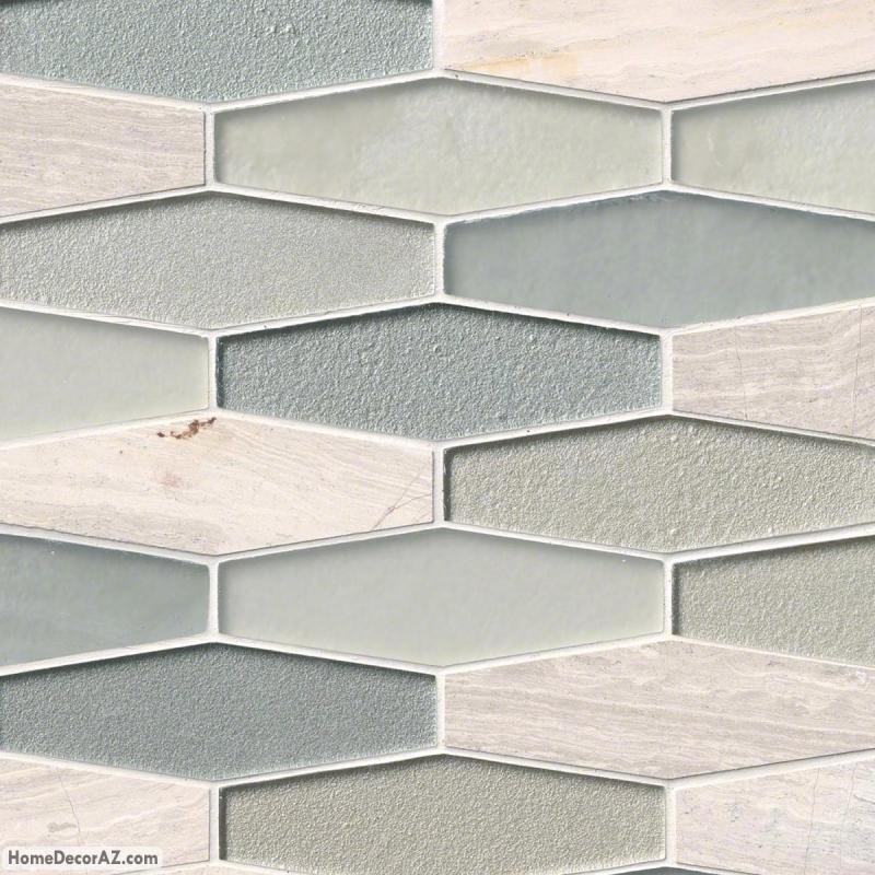 msi stone europa elongated hexagon mosaic backsplash smot sgls europa8mm