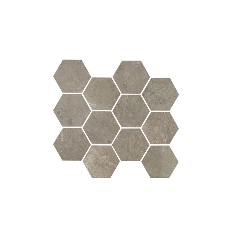eleganza argento matte concrete look hexagon tile yi6sm1103 hex