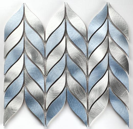 martini mosaic tesseva series glacial stream chevron backsplash mv04