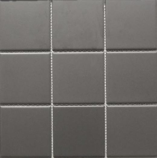 dark grey matte square 4x4 porcelain mosaic tile jbtpm13