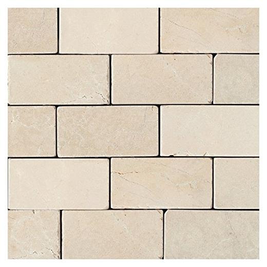 marble crema marfil classico 3x6 subway tile tumbled m722