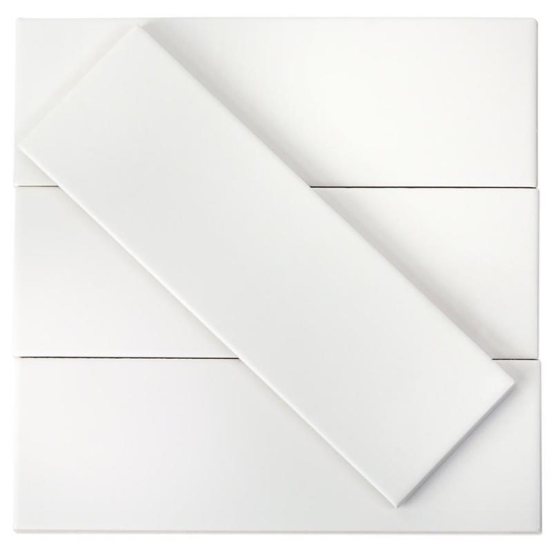 soho white matte 3x9 ceramic subway tile