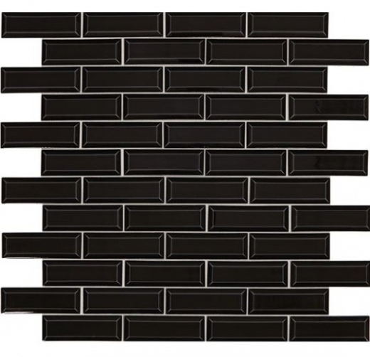 daltile rv12 revalia bevel gala black beveled subway tile