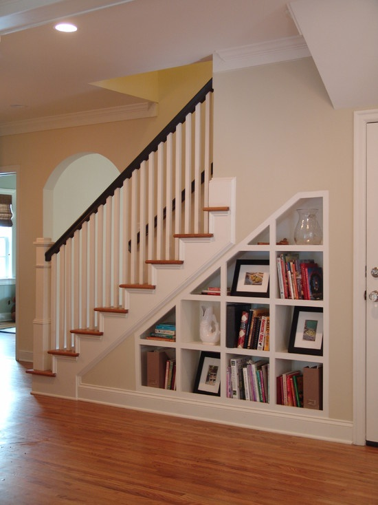 Basement Stair Ideas For Small Spaces: Storage Under Stairs
