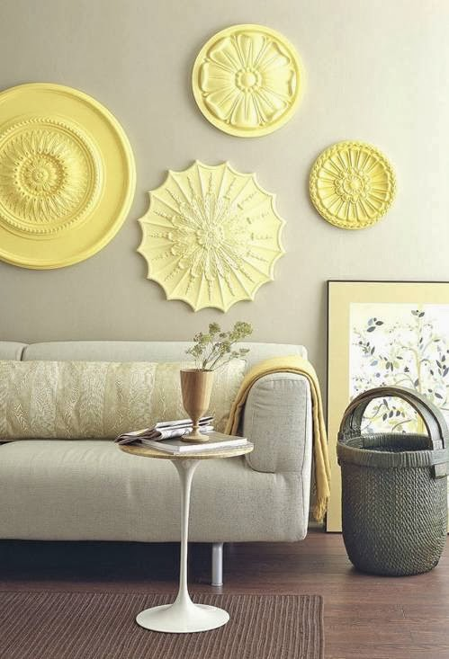 Decorating Blank Walls in Yellow Color