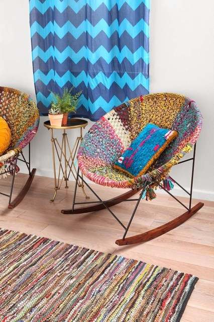 Colorful Rocking Chair