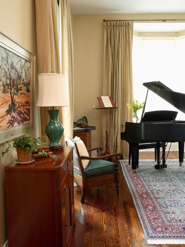 musical instruments in living rooms