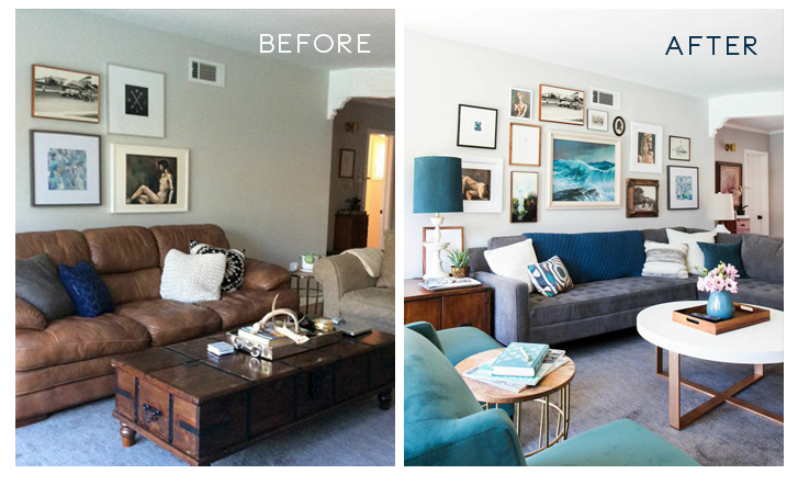Genial Living Room Remodels U2013 Before And After