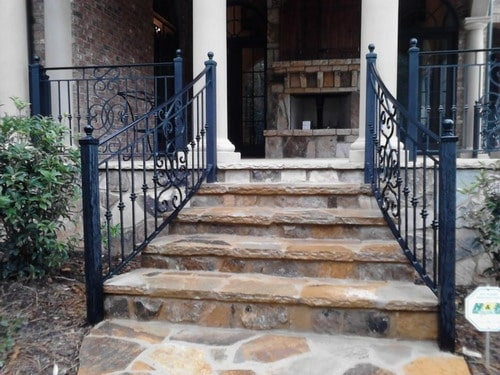 Decorative Outdoor Handrails To Add The Beauty Of The Stairs   Wrought Iron Handrails For Outside Steps   Stair Covering   Front Porch   Metal