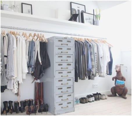 Metal bedroom drawers
