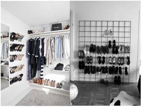 Wall mounted shoes rack