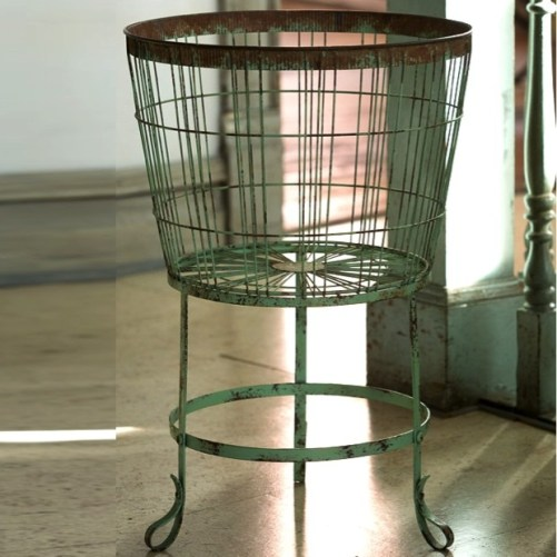 rustic-wire-bushel-basket-on-stand