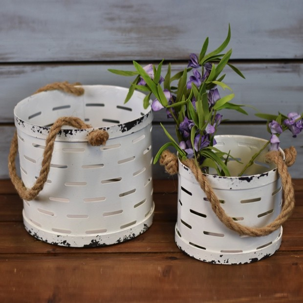 distressed-white-metal-buckets-set-of-2