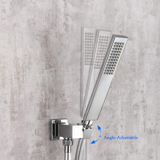 led rainfall shower faucet luxury mixer shower combo set 3 colors changing 12 inchs led rain shower system ceiling mount polished chrome finished