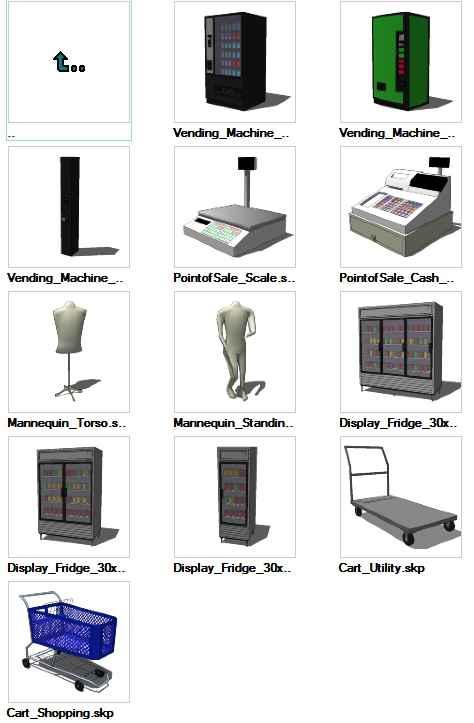 Sketchup Retail 3D models download