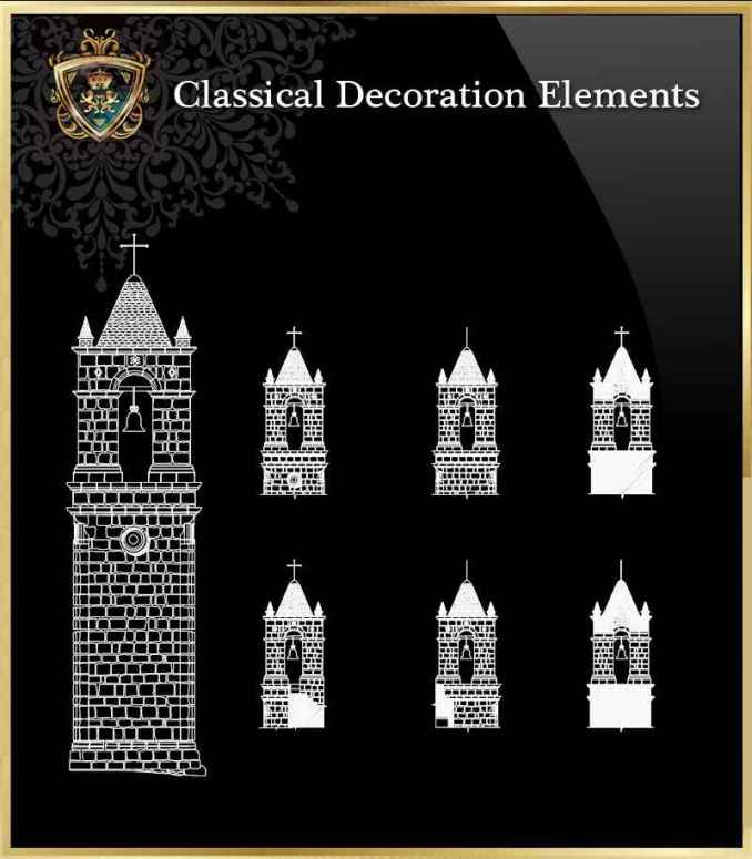Free Classical Decoration Elements 17 – Autocad Blocks & Drawings